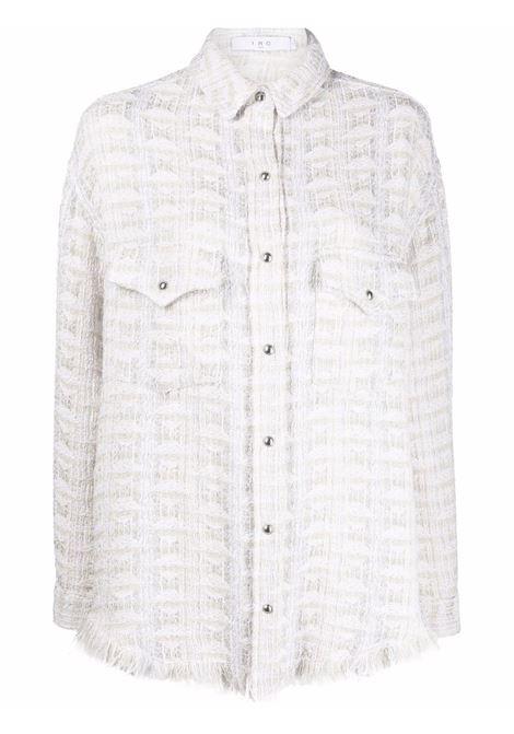 Ecru Marsh tweed shirt - women  IRO | 21WWP100MARSHECR26