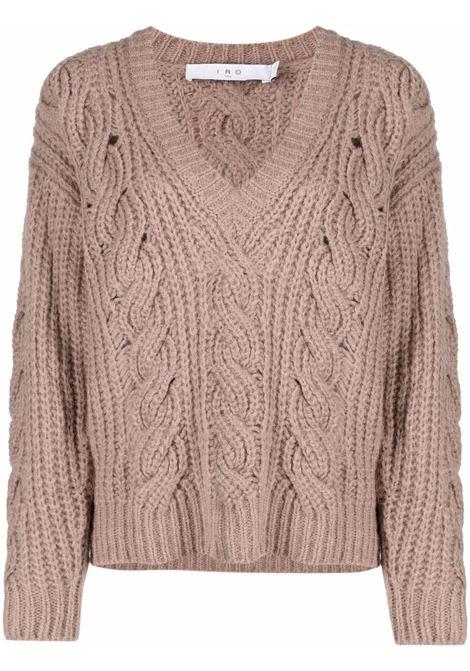 V-neck long sleeve sweater taupe- women IRO | 21WWP12BYBABEI0621W