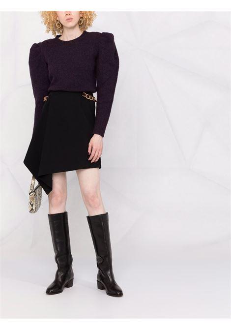 Padded-shoulder knitted jumper in purple - women  IRO | 21WWP12OMAHYAPUR10
