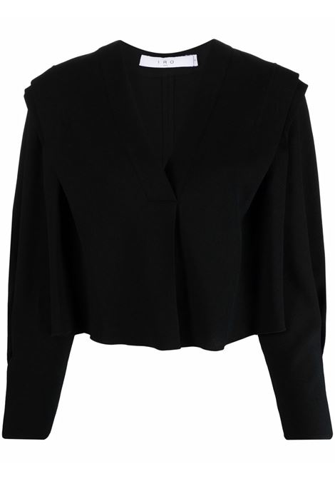 V-neck blouse in black - women  IRO | 21WWP16RHABBLA01