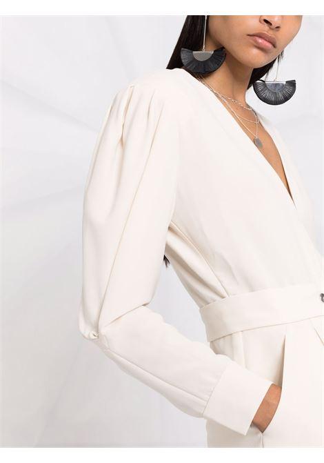 V-neck long-sleeved playsuit in chalk-white - women  IRO | 21WWP29NARMABEI0121W