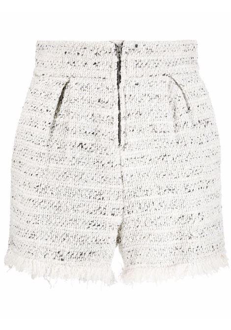 Tweed high-waisted shorts in white - women   IRO | 21WWP30TIMBERECR27