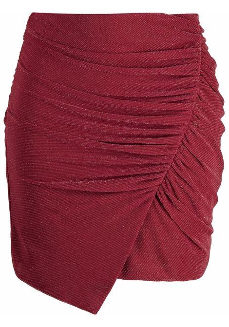 Ruched asymmetric skirt in burgundy and silver  - women  IRO | 21WWP31BEALBUR1221W