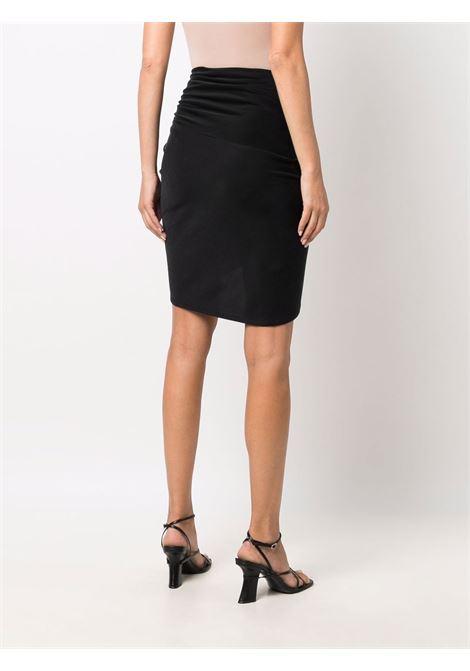 Black draped wrap miniskirt - women  IRO | 21WWP31MAELBLA01