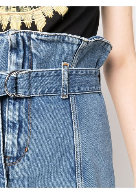 Blue belted-waist denim skirt - women  IRO | 21WWP31MELAYBLU26