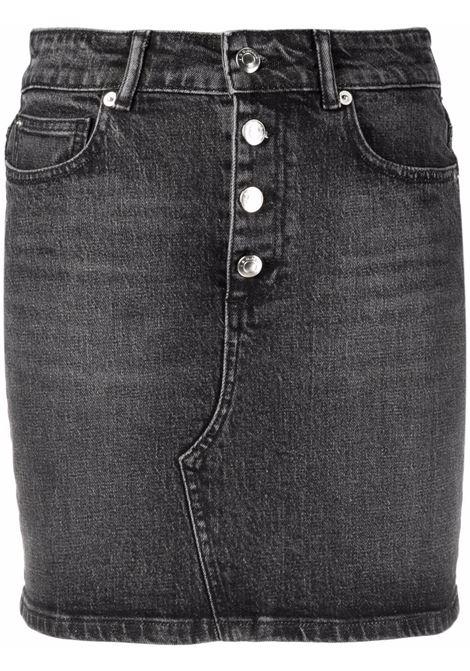 Black high-waisted denim miniskirt - women  IRO | 21WWP31VIVYBLA66