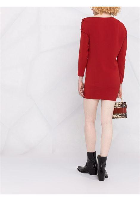 Ruched-shoulder mini dress in berry red - women  IRO | 21WWP33NEYOBUR07