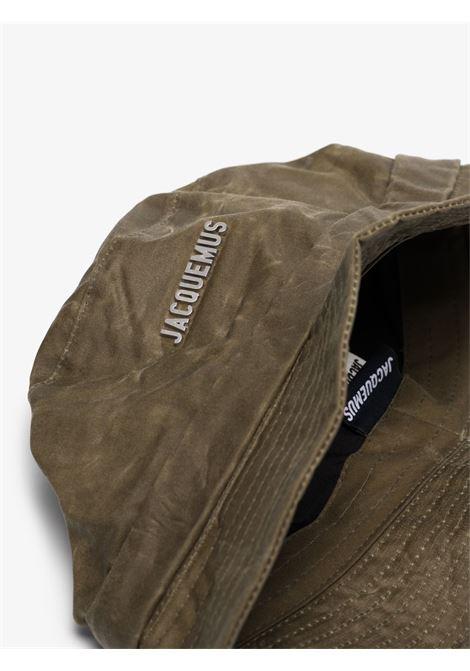 The bob gadjo bucket hat in khaki green- unisex JACQUEMUS | 213AC0015020580