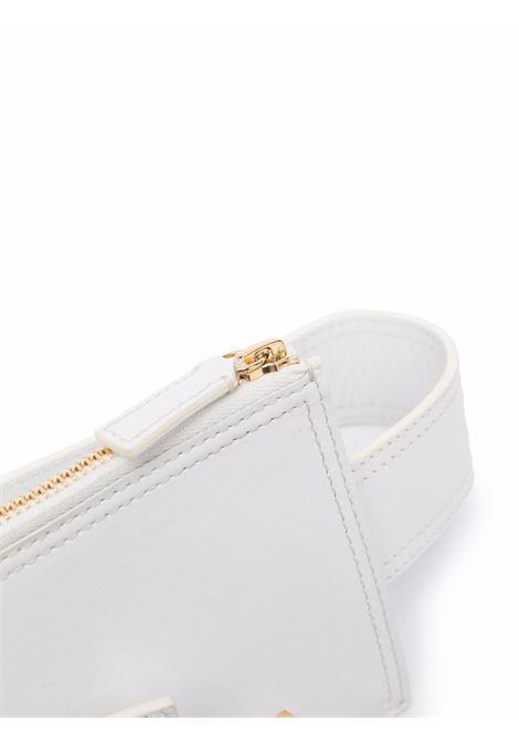 Belt with gold logo white- women JACQUEMUS   213AC3003000100