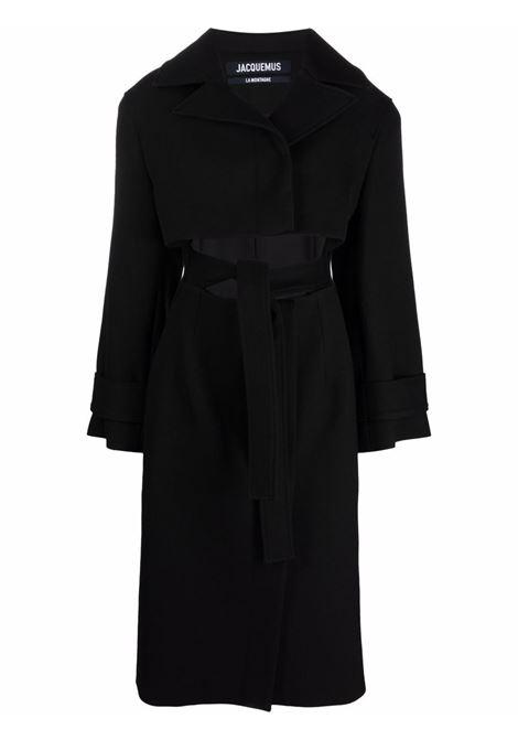 Cappotto con cut-out Picchu in nero - donna JACQUEMUS | 213CO0061330990