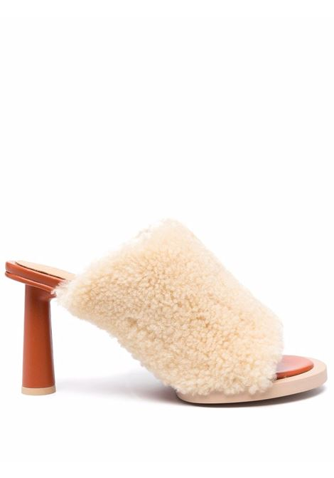 Mules les mules in shearling in beige - donna JACQUEMUS | 213FO0024010150