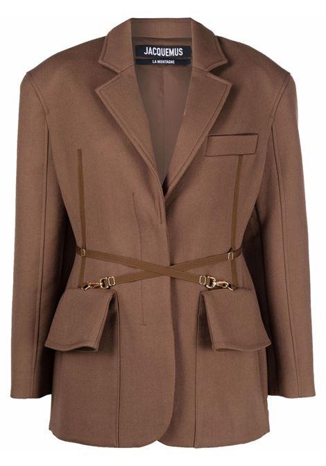La Veste Soco blazer in marrone - donna JACQUEMUS | 213JA0061330850