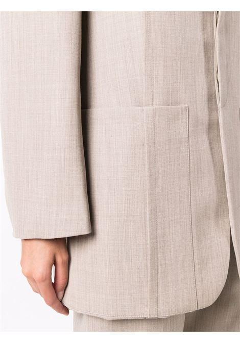 Blazer con maniche ampie oversize in beige - donna JACQUEMUS | 213JA1011260150