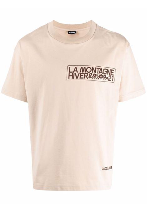 Short sleeve t-shirt beige- men JACQUEMUS | 213JS20822801AL