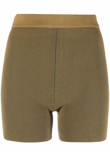 Knitted shorts khaki- women JACQUEMUS | 213KN0042060560