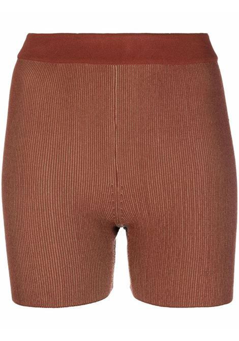 Knitted shorts brown- women JACQUEMUS | 213KN0042060850