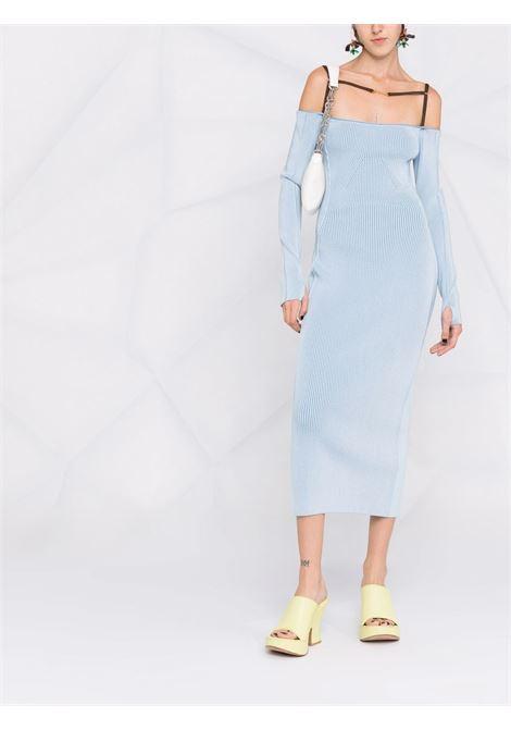 Abito midi la robe Sierra con spalle scoperte in azzurro - donna JACQUEMUS | 213KN3002180320