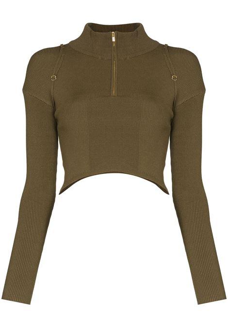 Top La Maille Bormio in verde khaki - donna JACQUEMUS | 213KN3052010560