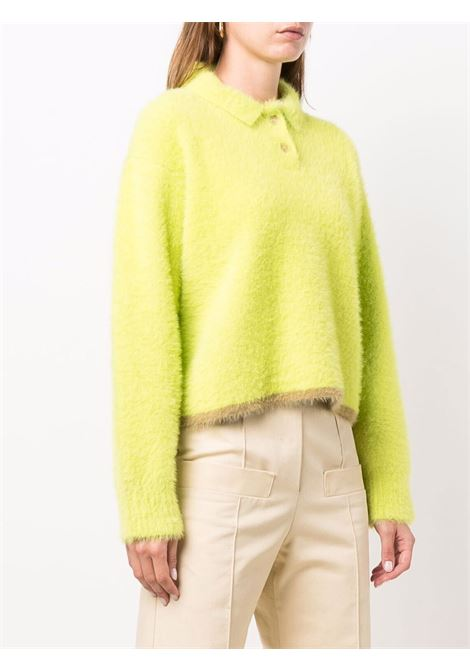 Maglione le polo neve in verde lime - donna JACQUEMUS | 213KN6012390510
