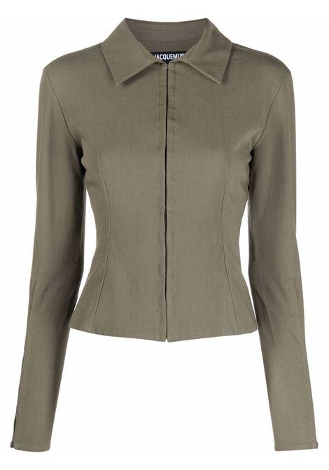 Camicia la chemise obiou in verde khaki - donna JACQUEMUS | 213SH0011070560
