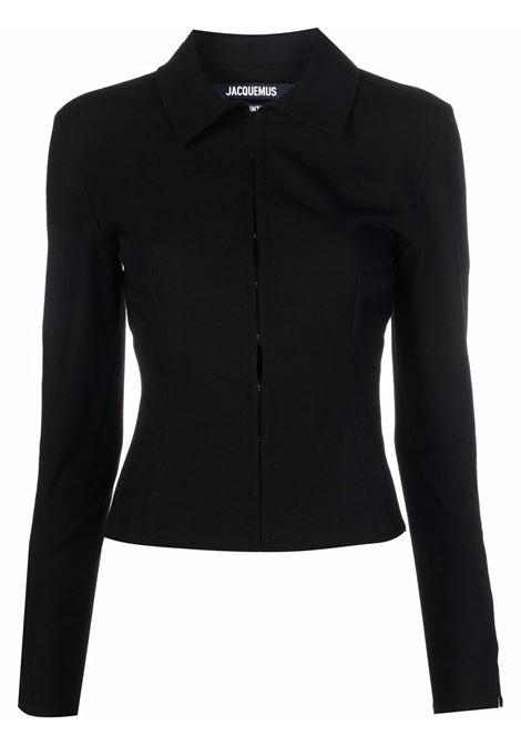 Camicia la chemise obiou in nero - donna JACQUEMUS | 213SH0011070990