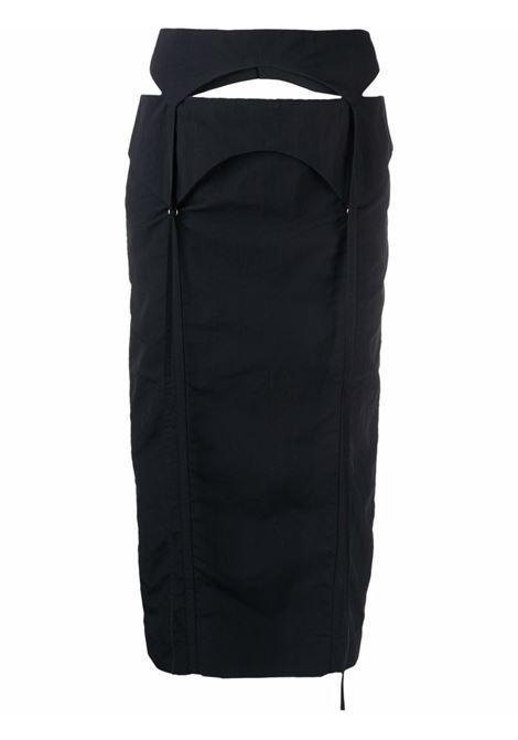 Gonna a vita alta la jupe draio in nero - donna JACQUEMUS | 213SK0011280990