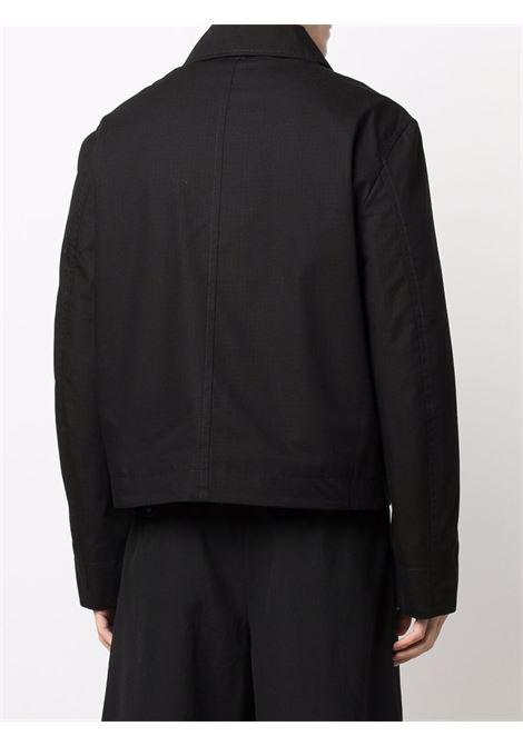 Black zipped shirt jacket - men  JACQUEMUS | 216BL0011120990