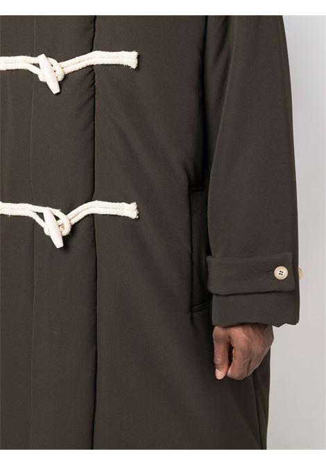 Khaki single-breasted duffle coat - men  JACQUEMUS | 216CO0031360580
