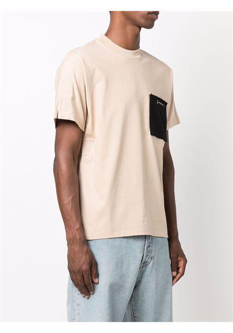 Beige patch-pocket logo T-shirt - men  JACQUEMUS   216JS0042290130