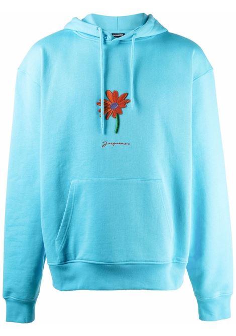 Le Pistoun floral-appliqué sweetshirt in light blue - men  JACQUEMUS | 216JS2012120340