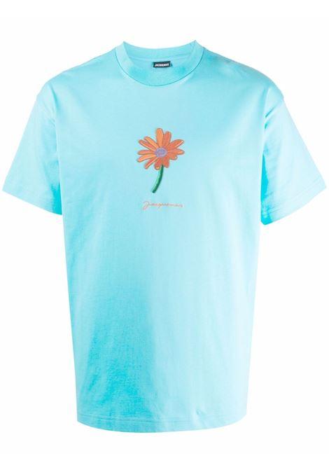 Le t-shirt pistoun in turquoise - men  JACQUEMUS | 216JS2042280340