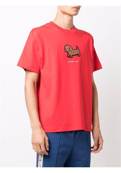 Le t-shirt pistoun in red - men  JACQUEMUS | 216JS2042280470