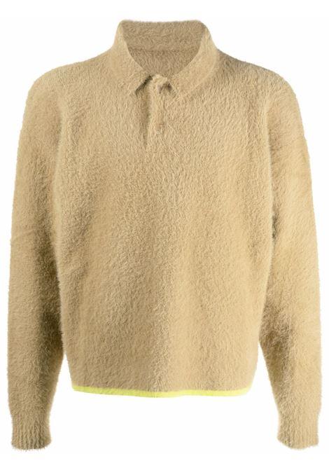 Le polo neve jumper in beige - men  JACQUEMUS | 216KN6012390150