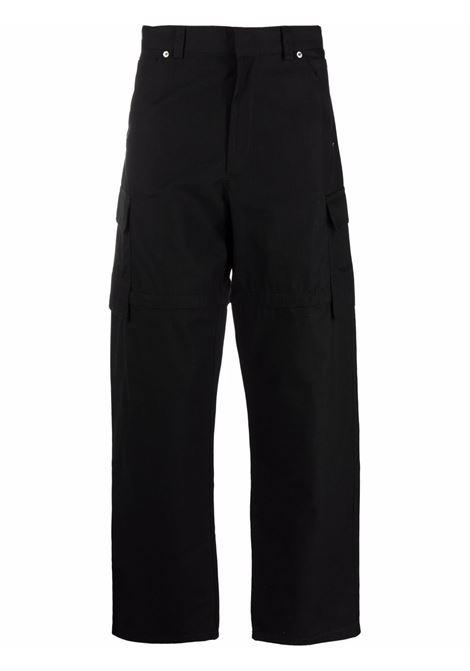 Black straight leg cargo trousers - men  JACQUEMUS | 216PA0071120990