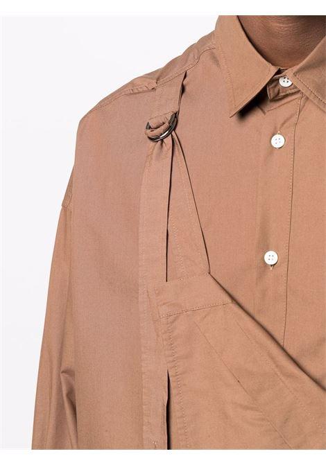 Brown La Banane long-sleeve shirt - men  JACQUEMUS | 216SH1061050850