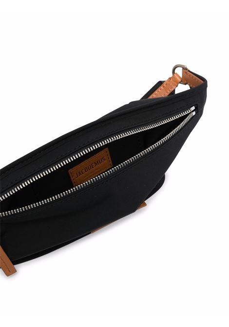 La banane yelò belt bag in black and brown - men  JACQUEMUS   216SL0053170990