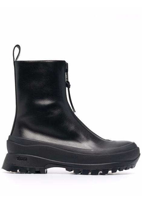 Zip-front chunky boots in black - women JIL SANDER | JP37002A14510001