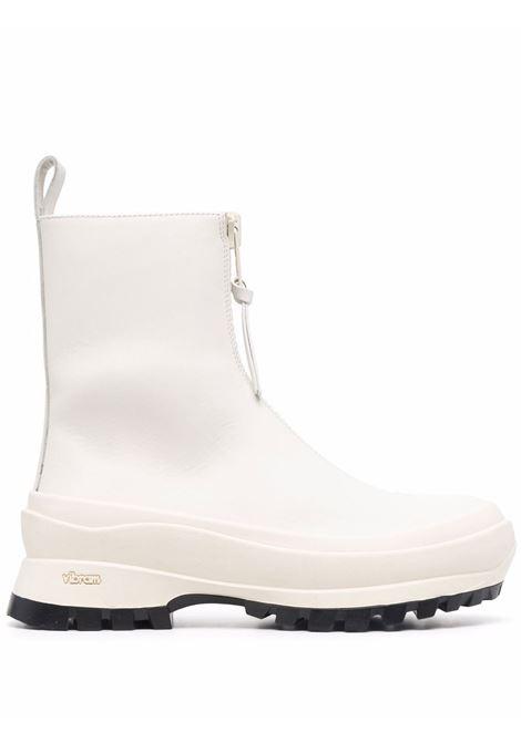Stivaletti con dettaglio zip in bianco - donna JIL SANDER   JP37002A14513100
