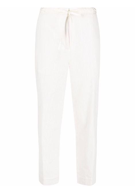 White cropped drawstring trousers - women JIL SANDER | Trousers | JPPT310550WT243014B103