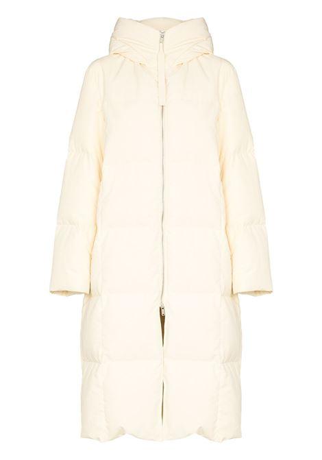 Cream oversized hooded down coat - women  JIL SANDER | JPPT441594WT441100279