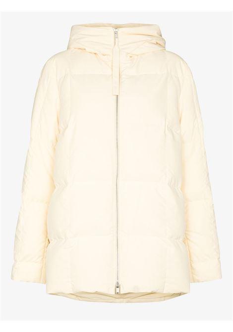Cream oversized hooded down jacket - women  JIL SANDER | JPPT441694WT441100279