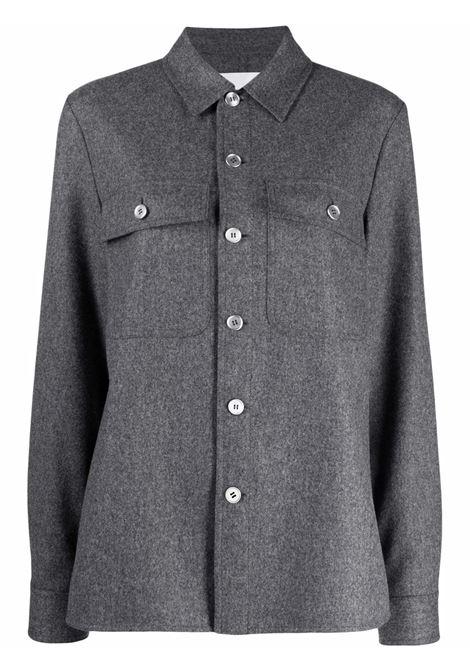 Grey long-sleeved shirt - women  JIL SANDER | Shirts | JPPT600105WT212500030