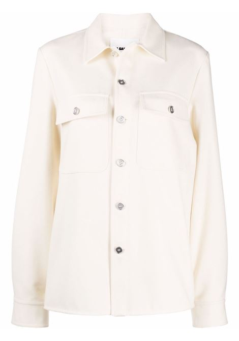 Single breasted jacket shirt with flap pockets beige- women JIL SANDER | JPPT600105WT212500109