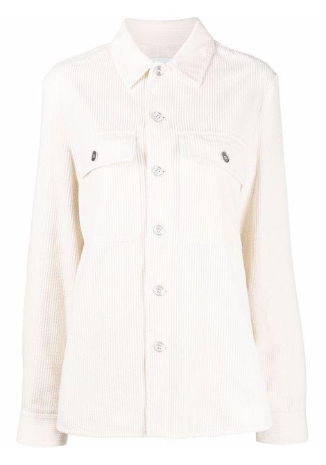 Corduroy button-down shirt white - women  JIL SANDER | Shirts | JPPT600105WT243014103