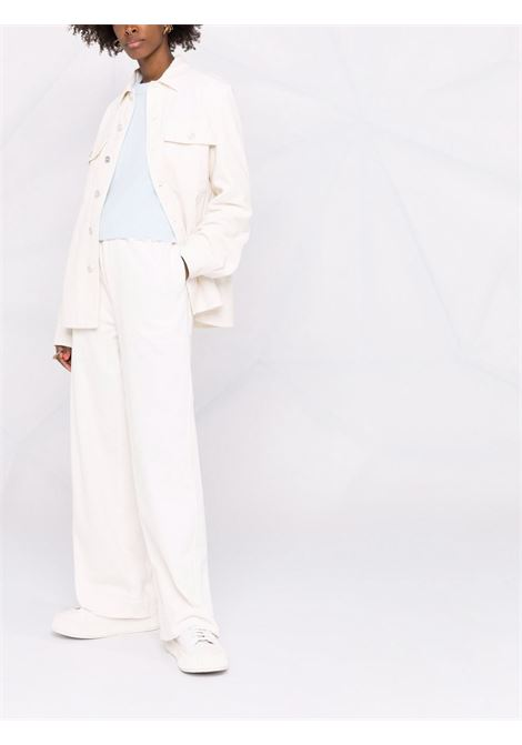 Corduroy button-down shirt white - women  JIL SANDER | JPPT600105WT243014103