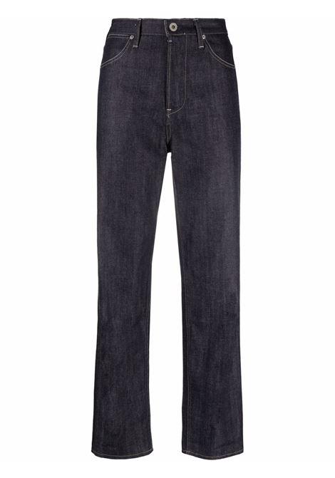 Dark blue high-waist straight-leg jeans - women  JIL SANDER | JPPT663102WT246700405