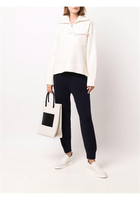 Beige high-neck zipped jumper - women  JIL SANDER | JPPT707504WT217808105