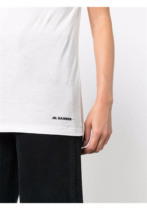 Jersey knit short sleeve t-shirt white- women JIL SANDER | JPPT707510WT248308100