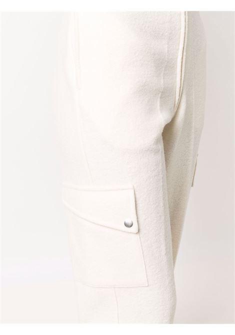 Beige high-rise tapered trousers - women  JIL SANDER | JPPT727505WT217808105