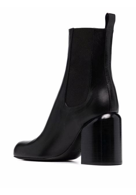 Black round toe ankle boots - women  JIL SANDER | JS37043A14001001